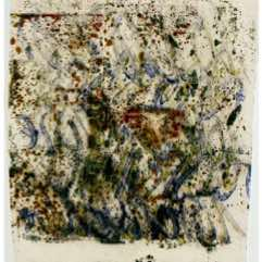 "18"" x 18"" / 48 cm x 48 cm / Color Encaustic on Rice Paper"